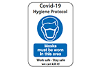 Covid-19 Hygiene Protocol Masks must be worn